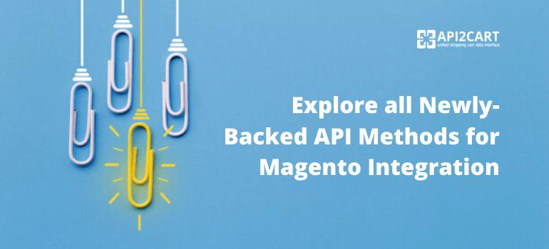 new api methods for magento