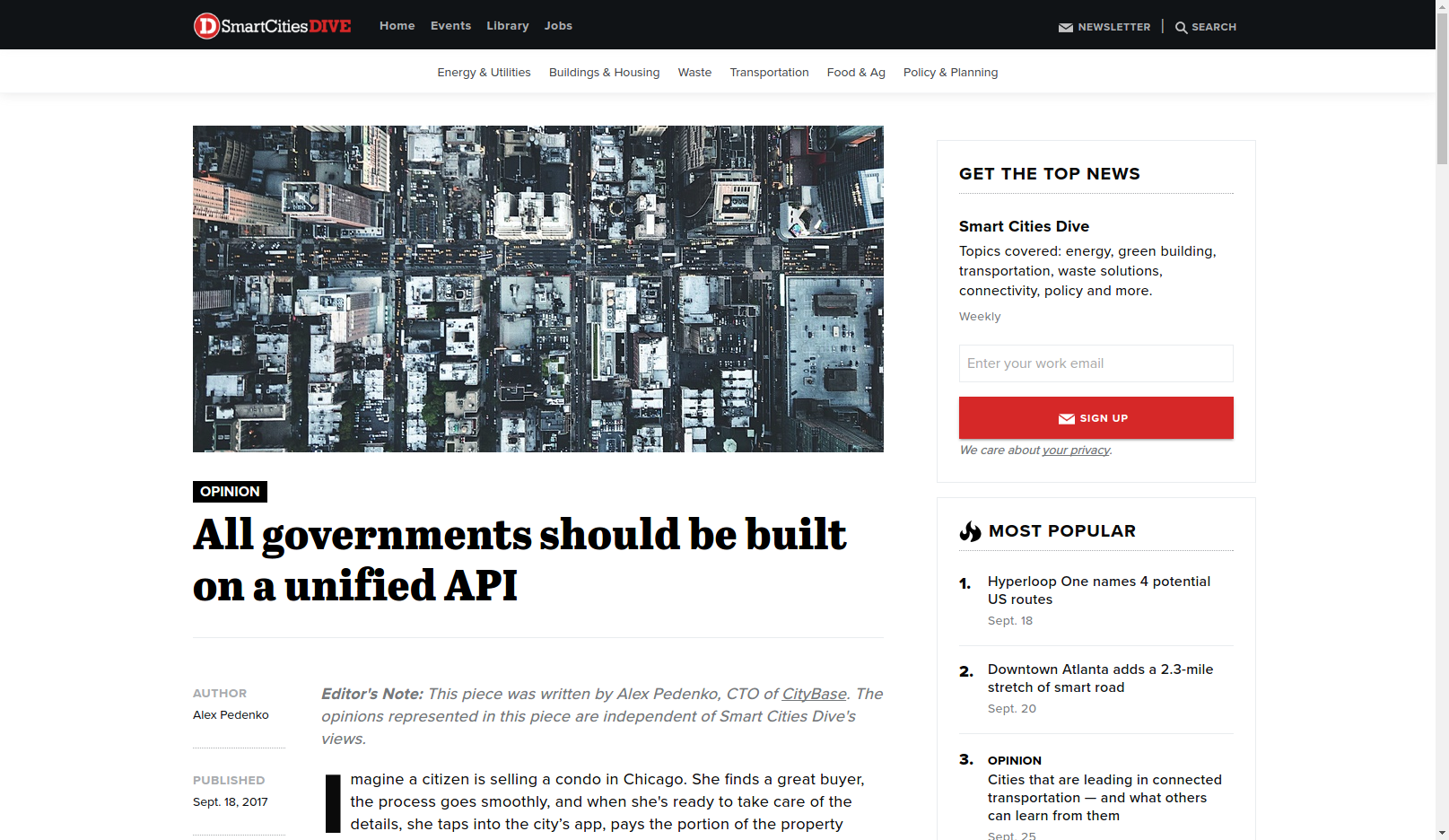All governments should be built on a unified API