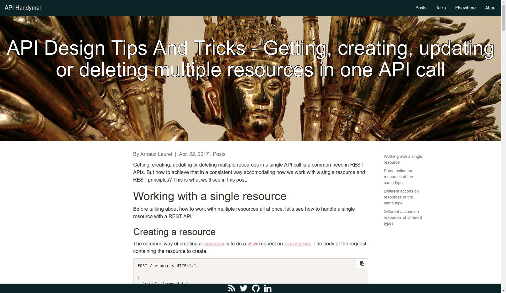 API Design Tips And Tricks - Getting, creating, updating or deleting multiple resources in one API call