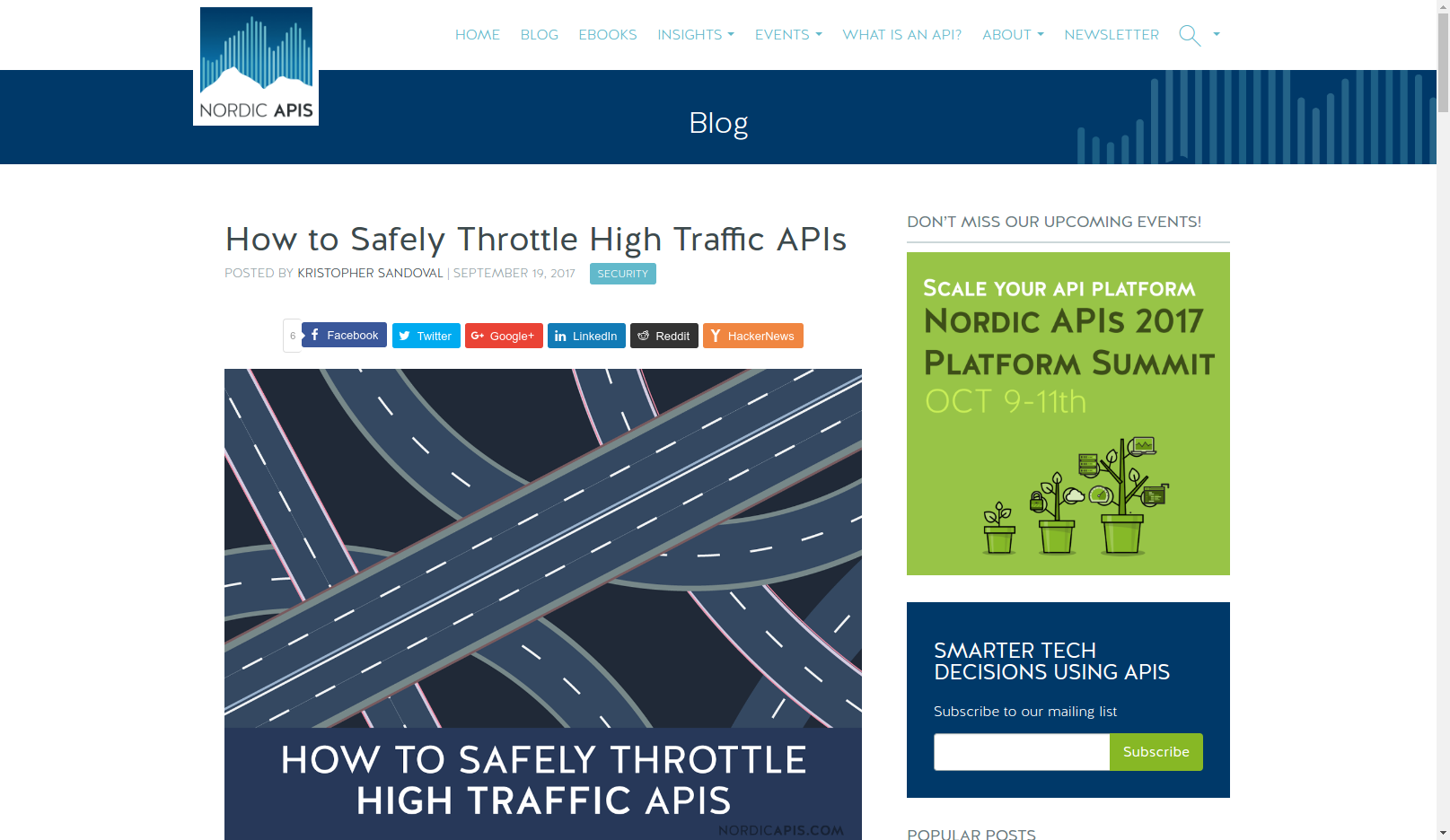 How to Safely Throttle High Traffic APIs