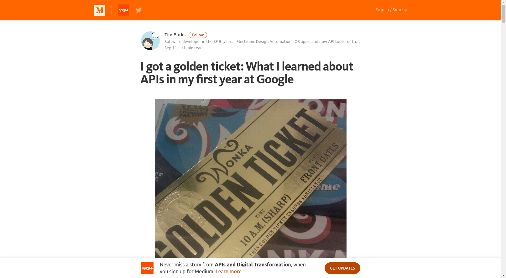 I got a golden ticket: What I learned about APIs in my first year at Google