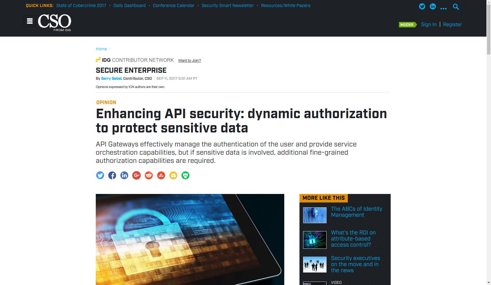 Enhancing API security: dynamic authorization to protect sensitive data