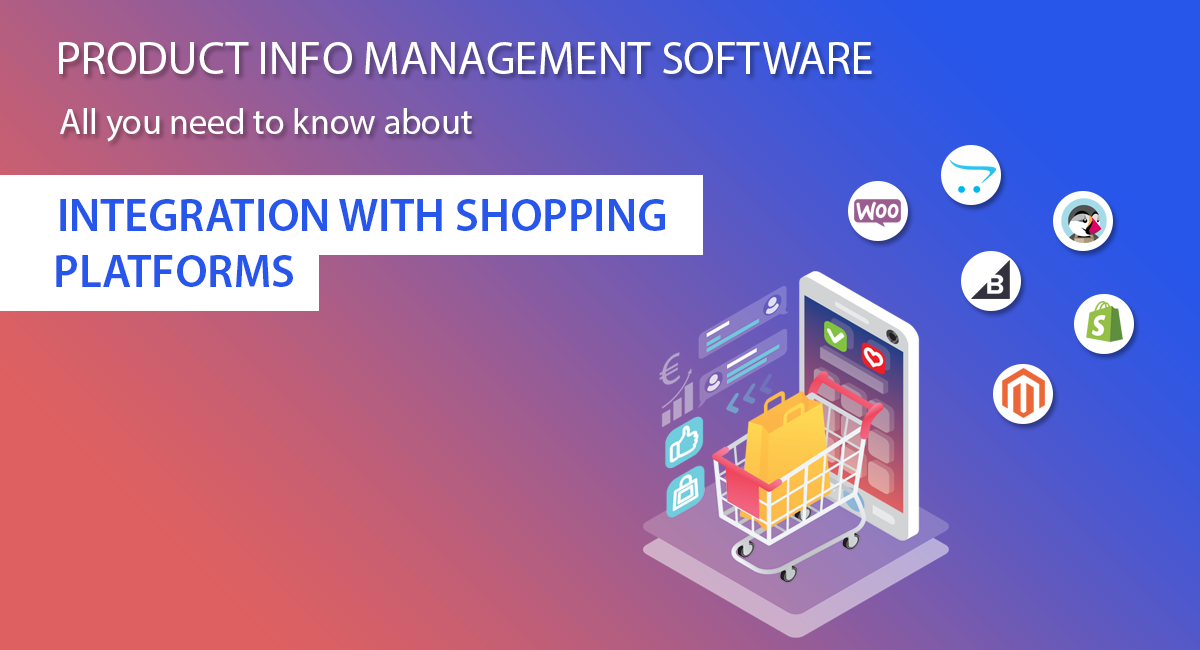 shopping cart integration for product info management software